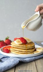 Gluten-free Buttermilk Pancakes. Easy recipe and so delicious!