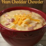 Gluten-free Ham Cheddar Chowder Soup - This creamy, hearty soup is a favorite of kids and adults!
