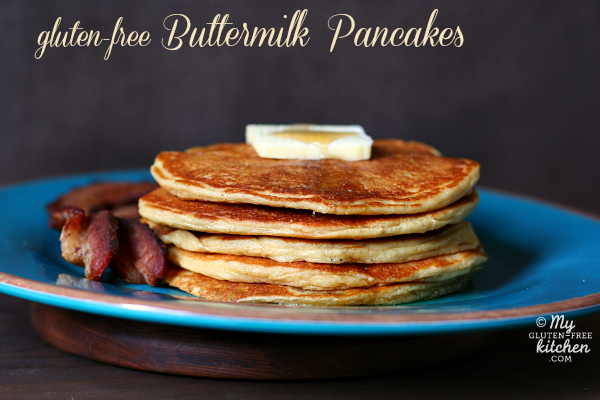 gluten-free Buttermilk Pancakes - made with almond flour and millet, these pancakes are amazing!