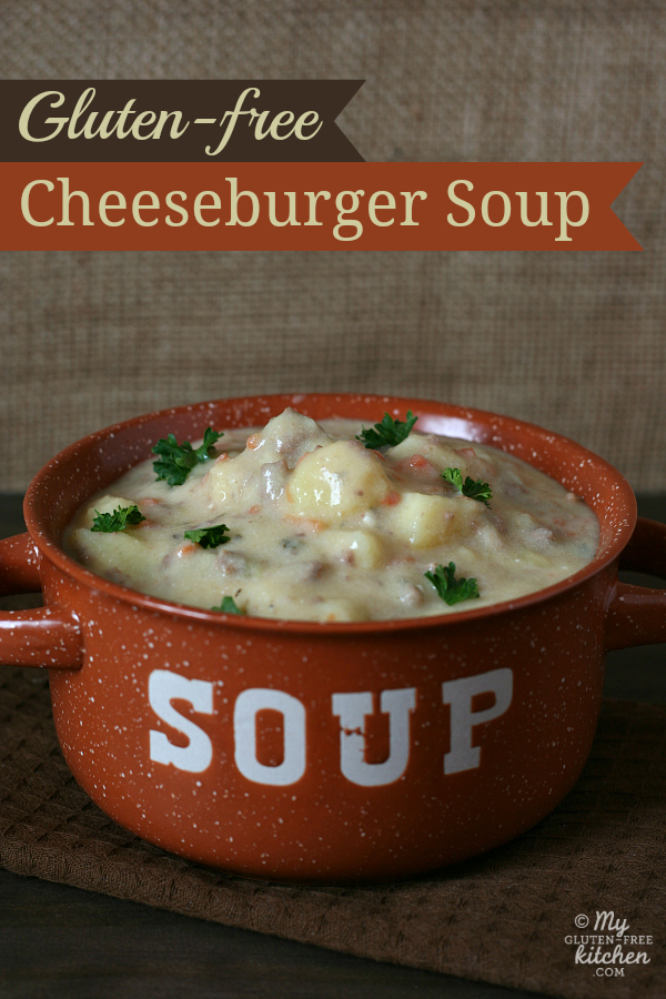 bowl of Gluten-free Cheeseburger Soup