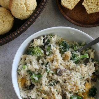 Gluten free Chicken Rice Broccoli Casserole