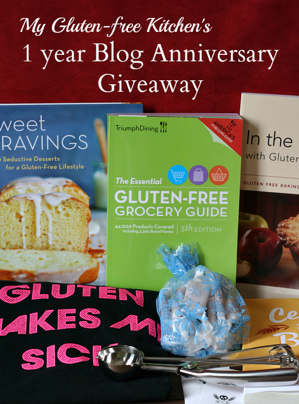 My Gluten-free Kitchen's 1 year Blog Anniversary Giveaway