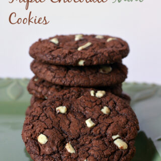 Triple Chocolate Mint Cookies {Gluten-free}