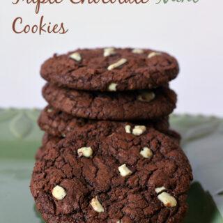 Triple Chocolate Mint Cookies {Gluten-free}