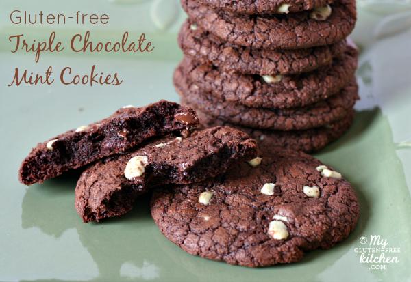 Gluten-free Triple Chocolate Mint Cookies