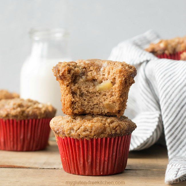 Bite of Gluten-free Apple Streusel Muffin