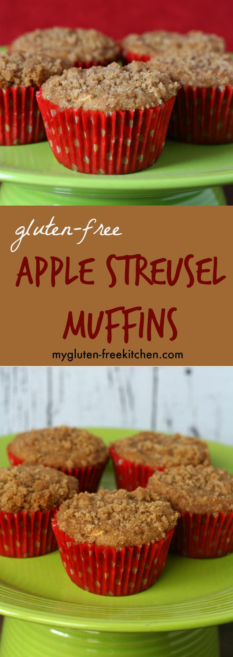Gluten-free Apple Streusel Muffins Recipe. I love these!