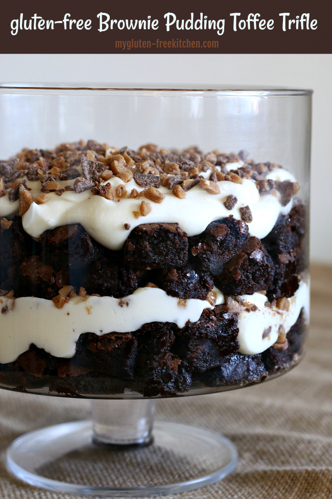 Gluten Free Brownie Pudding Toffee Trifle
