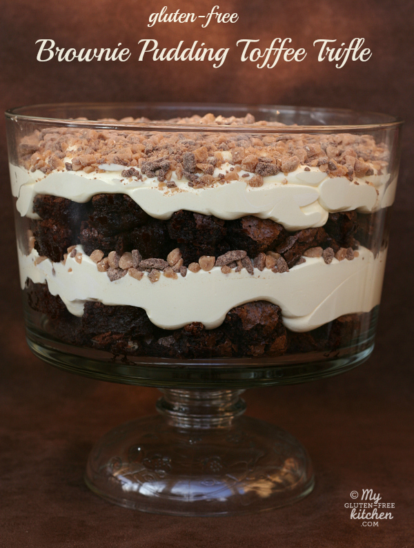 Gluten-free Brownie Pudding Toffee Trifle
