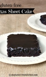 Gluten-free Texas Sheet Cake - Super rich and chocolate cake and icing that everyone loves!
