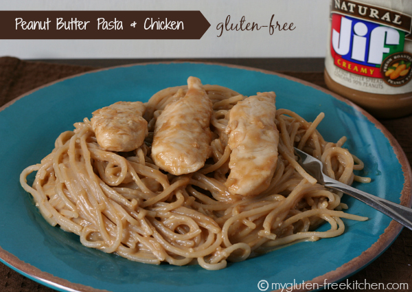 Gluten-free Peanut Butter Pasta and Chicken - This is an easy and delicious meal that you can have ready in under 30 minutes!