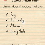 Gluten-free Dinner Menu Plan - ideas for easy, family-friendly gluten-free dinners