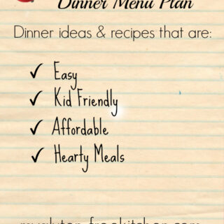 Gluten Free Menu Plan Week 2 Meals