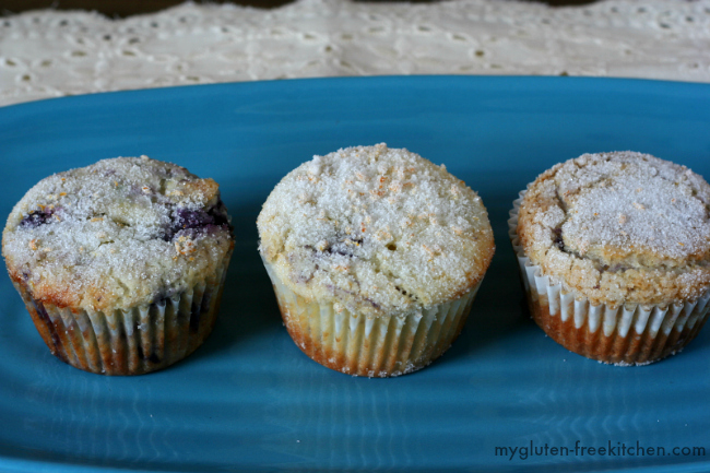 Gluten-free Blueberry Muffins with a hint of lemon