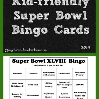 Super Bowl XLVIII Bingo Cards {family friendly}