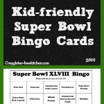 Super Bowl XLVIII Bingo Cards {family friendly}