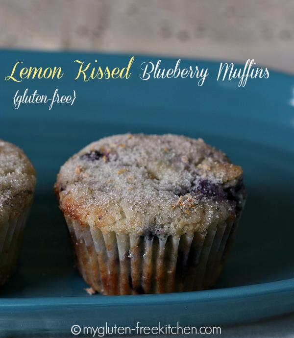 Gluten-free Lemon Kissed Blueberry Muffins