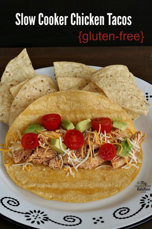 Gluten-free Slow Cooker Chicken Tacos - This is such an easy weekday dinner!