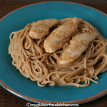 Peanut Butter Pasta and Chicken {Gluten-free}