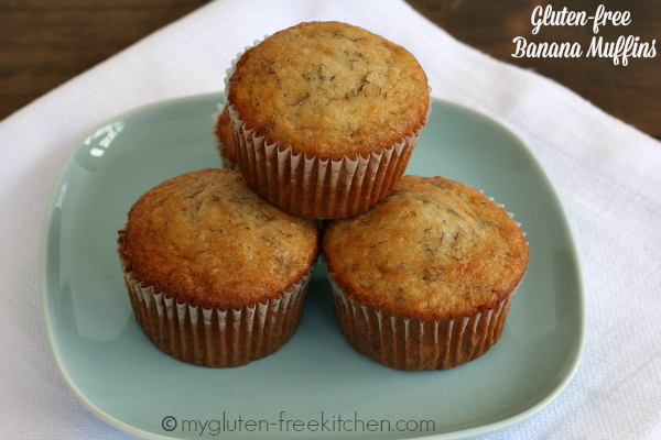 Gluten-free Banana Muffins - I like to make a double batch and freeze them!