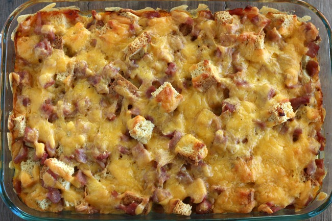Gluten-free Breakfast Casserole after baking