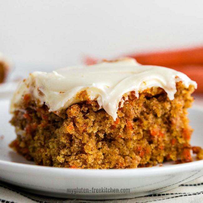 Gluten-free Carrot Cake Slice