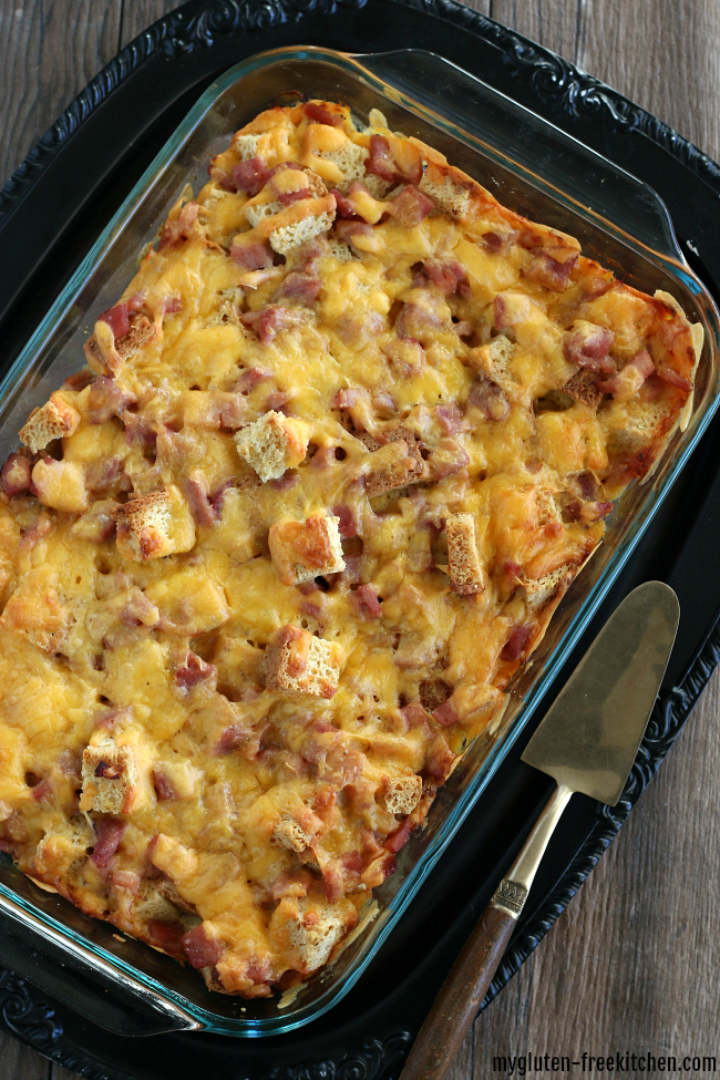 Gluten-free Ham and Cheese Breakfast Casserole