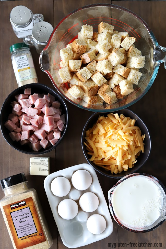 Ingredients for gluten-free breakfast casserole