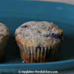 Lemon Kissed Blueberry Muffins {Gluten-free}