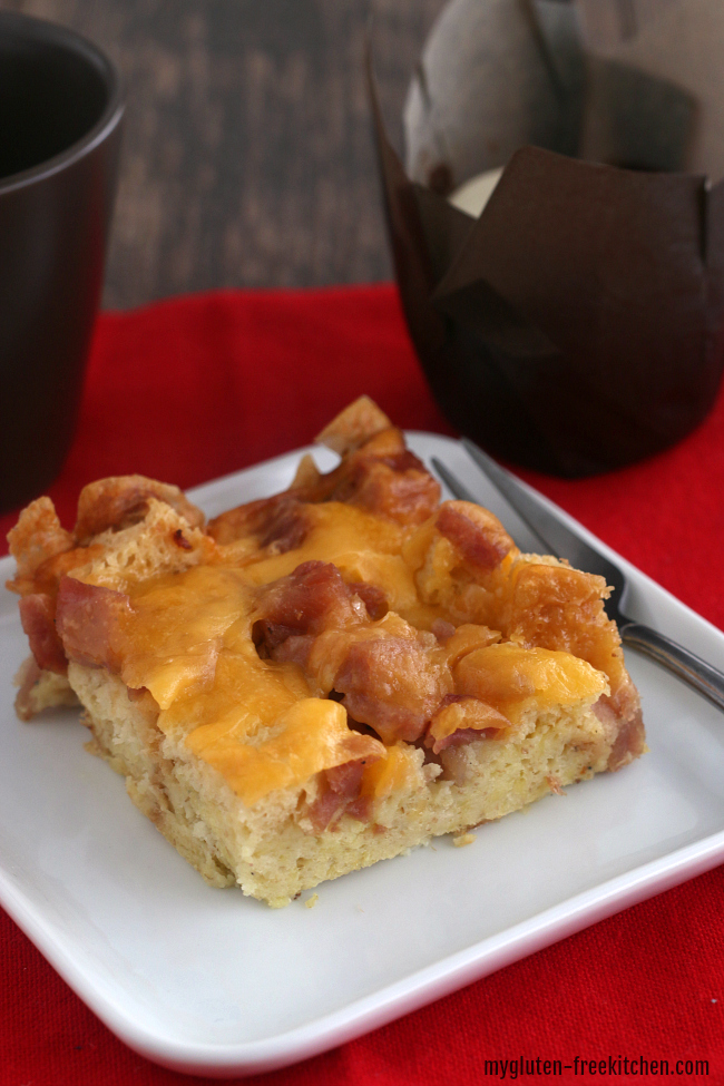 Slice of Gluten-free Breakfast Casserole Holiday