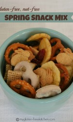 Spring Snack Mix {Gluten-free, nut-free} - This is a fun snack mix that is safe for kids to bring to school.