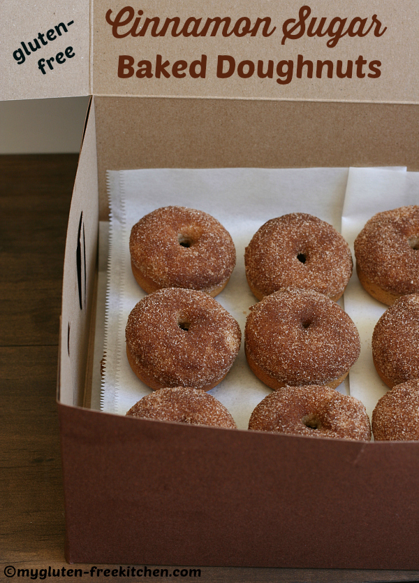 Gluten-free Cinnamon Sugar Baked Doughnuts - Such a fun treat to make and share! These were great the 2nd day still too!