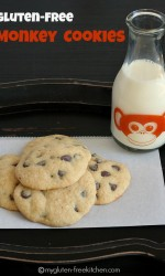Gluten-free Monkey Cookies - aka Banana Chocolate Chip Cookies. Great recipe for when you have 1 overripe banana!