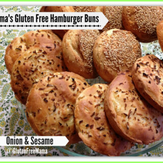 Mama's Gluten Free Onion and Sesame Hamburger Buns {dairy-free too!}
