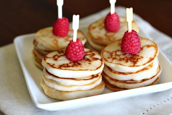Gluten-free, dairy-free Mini Lemon Pancakes