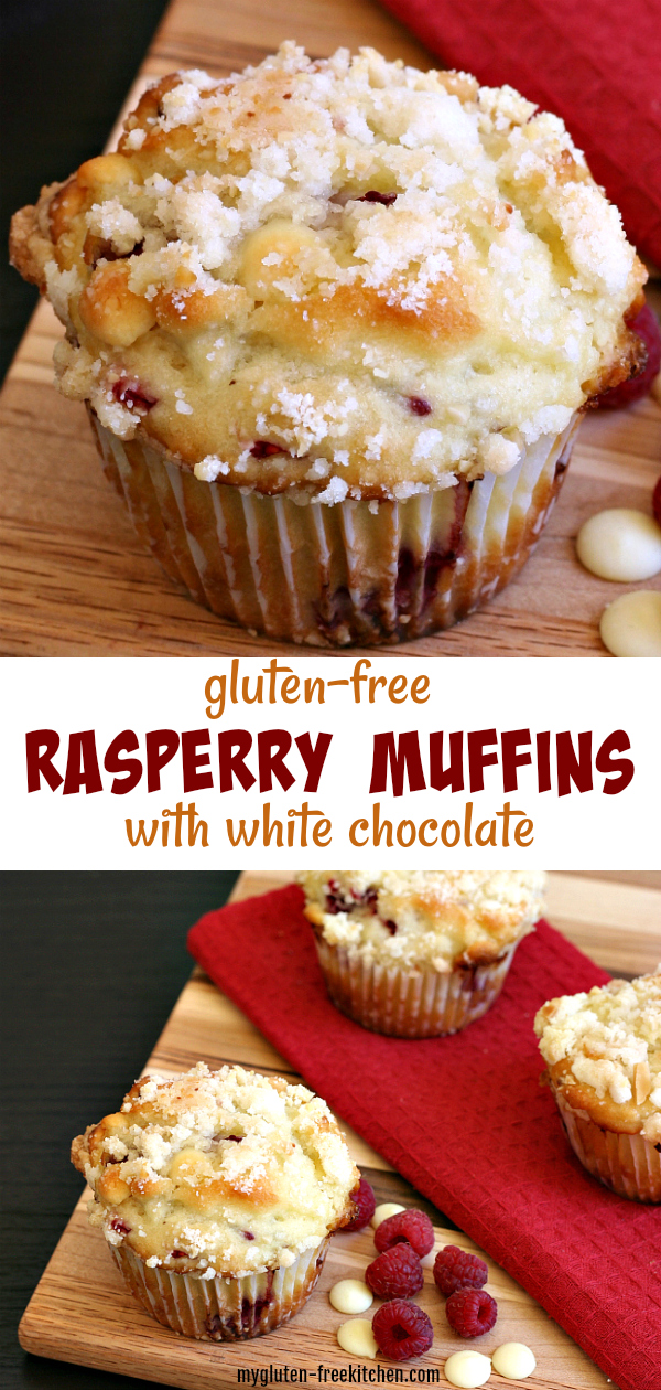 Best Gluten-free Raspberry Muffins with White Chocolate