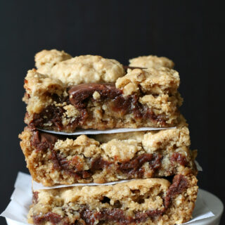 Gluten-free Revel Bars - Peanut Butter Oatmeal Fudge Bars