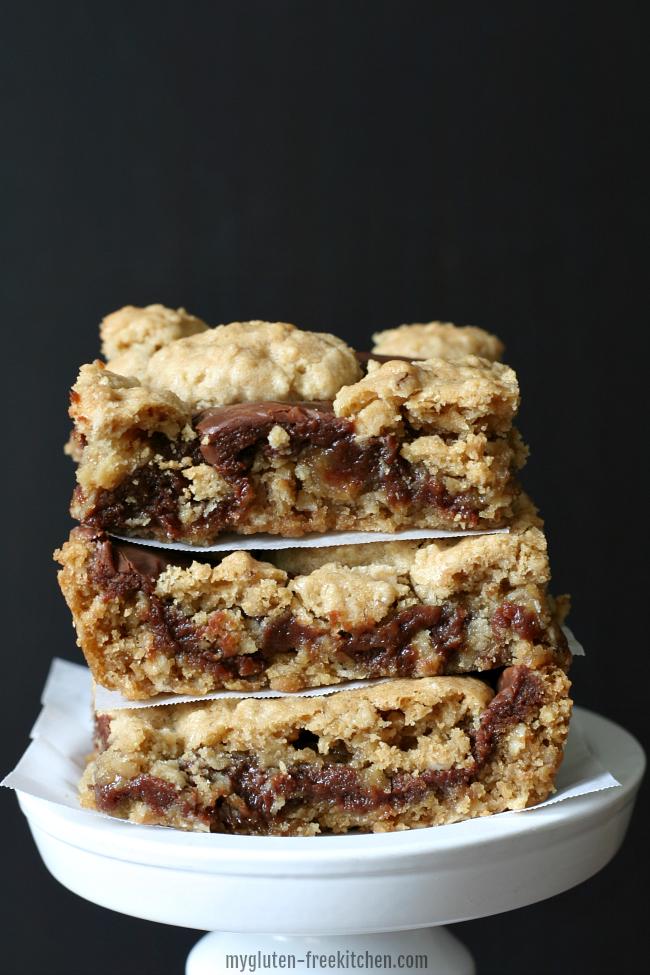 Gluten-free Revel Bars - Peanut Butter Oatmeal Fudge Bars