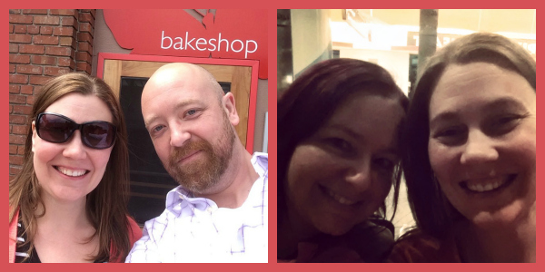 Hosts for my Bay Area gluten-free bakery tour