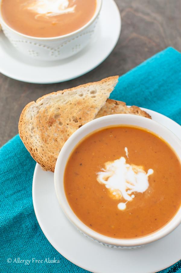Dairy-free Creamy Tomato Soup Recipe