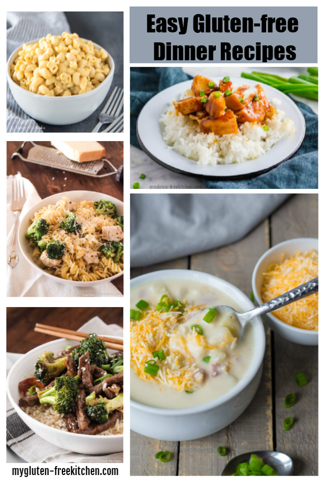 Easy gluten-free dinner ideas- 4 week gluten-free meal plan