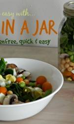 Salad in a Jar -Vegan, Gluten-free, and easy lunch from Vegetarian Mamma