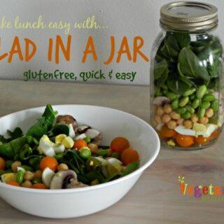 Salad in a Jar {Gluten-free}