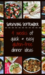 Surviving September - 4 Weeks of Gluten-free Dinner Ideas that are quick and easy!