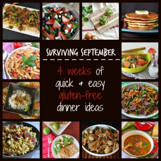 Surviving September – 4 weeks of easy gluten-free dinner ideas