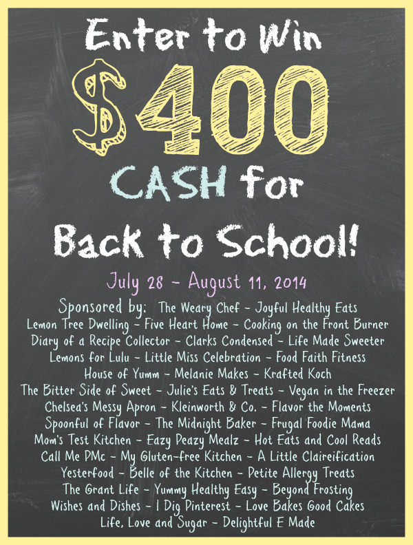 back to school giveaway: Enter to win $400 cash just by following these bloggers on Pinterest!