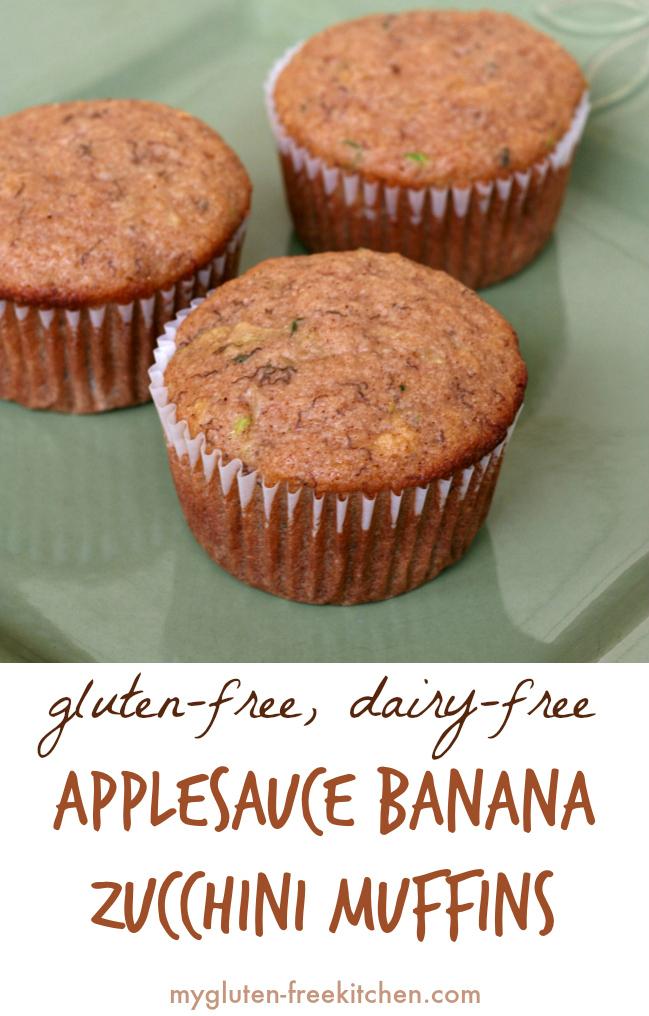Gluten-free Applesauce Banana Zucchini Muffins Recipe