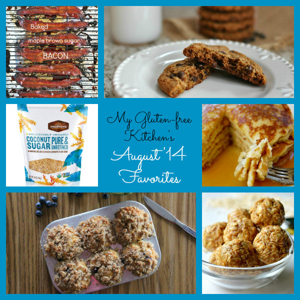 My Gluten-free Kitchen's August 2014 Favorites - recipes I tried, coconut sugar and my favorite ice pack!!