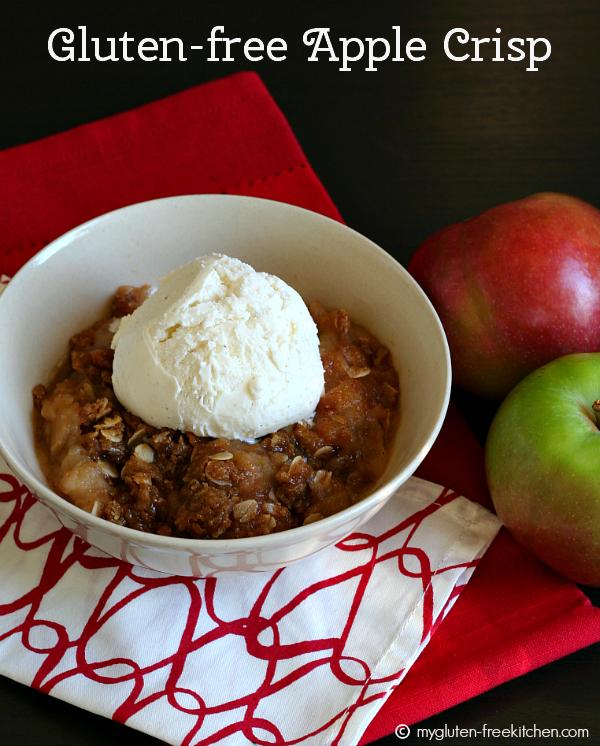 Family Favorite Gluten-free Apple Crisp with Vanilla Ice Cream