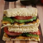 Gluten-free Avocado Bacon and Egg Sandwich